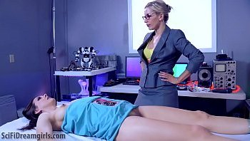 Katie St Ives and India Summer threesome in the kitchen